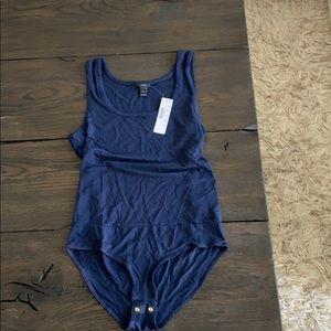 Brand new JCREW stretch bodysuit - navy